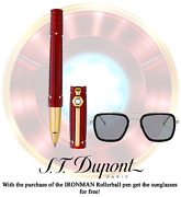 S.t. Dupont Iron Man Tony Stark Red St412706 Ink Color Black Rollerball Pen