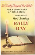 Letand039s Rally Around The Bible For A Great Year Bible Study Sunday Postcard