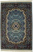 New Teal Blue Hand-knotted Kirman 3x4 Wool Area Rug Oriental Home Decor Carpet