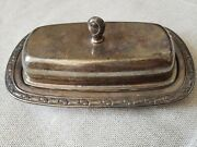 Vintage Oneida Silverplated Covered Butter Dish