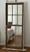 Old Barn Wood Mirrored Window Mounted And Framed One Of A Kind -free Stand Or Hang