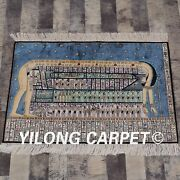 Yilong 2and039x3and039 Handmade Silk Tapestry Egyptian Pictorial Home Indoor Carpet L108a