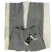 Chef Worksbaggie Unisex Chef Elastic Waist Drawstring Pants New W/o Tag Relaxed