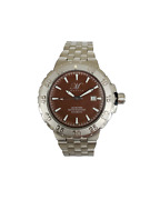 Magico 20001-44 Men's 48mm Brown Dial Diver Stainless Steel Bracelet Watch