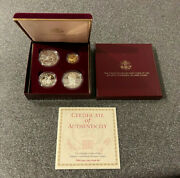 1995 Olympic 4 Four Coin Proof Set Atlanta Centennial Olympic Games Gold Coin