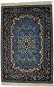 Hand-knotted Kirman New Teal Blue 3x4 Wool Area Rug Oriental Home Decor Carpet