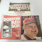 Mlb 1978 Boston Red Sox Official Yearbook Magazine Photo Fenway Park Baseball