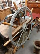 Rare Vintage 1860s Steam Boat Ships Wheel 10 Handle 5 Foot Round. Buy Boat
