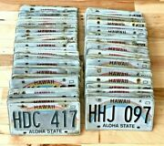 Bulk Lot Of 100 Hawaii License Plates - Craft Condition