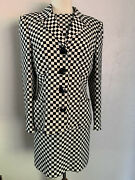 Vintage 1994 Gianni Versace Couture Iconic Checkered Jacket And Dress Silk Size 8
