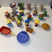 Lot Of 23 Fisher Price Little People Horses Princess And Figures + Others