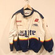 Vtg Rusty Wallace1989 Winston Cup Series Miller Lite Racing Jacket Mens Size Xxl