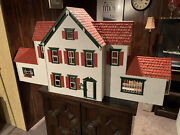 Handmade Vintage Cape Cod Cottage Style Doll House W/ Furniture - Reduced