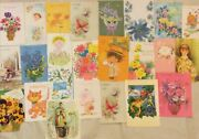 Vintage Unused Greeting Card Lot Of 25 Assorted Cards Euc Birthday, Get Well