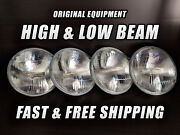 Oe Front Halogen Headlight Bulb For Buick Gs 350 1968-1969 High And Low Beam X4