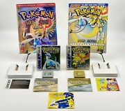 Pokemon Silver And Gold Nintendo Gameboy Color And Official Game Guides Authentic