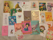 Vintage Unused Greeting Card Lot Of 25 Assorted Cards Euc Birthday, Shower