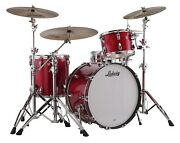 Ludwig Classic Maple Red Sparkle Mod 18x22_8x10_9x12_16x16 Drums Kit Auth Dealer
