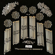 Crystal Chandelier Part 36 Pcs 6 In Spear, 100 Beads And 6 Fancy Rosettes