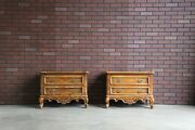 Nightstands Bedside Chests French Provincial Nightstands By Drexel Heritage