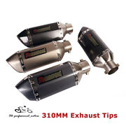 310mm Universal Motorcycle Exhaust Tips Short Muffler Vent Pipe Silencer 38-51mm