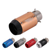 38-51mm Universal Short Motorcycle Exhaust Tip Muffler Tail Pipe Stainless Steel