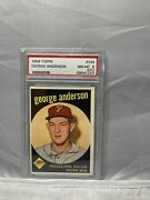 1959 Topps 338 Rookie George Sparky Anderson Hof Psa 8 Nm-mt Oc Phillies Rc