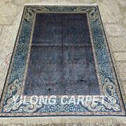 Yilong 4and039x6and039 Handknotted Silk Carpet Living Room Indoor Traditional Rug H308b