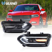Vland Led Headlights Fits For Toyota Tacoma 2016-2021 Amber Reflector Assembly