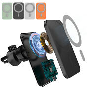 15w Magnetic Wireless Car Chargers Mount Mag Safe For Iphone 12 Pro Max 12 Mini