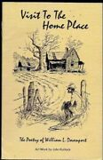 Visit To Home Place Poetry Of William L. Davenport Excellent Condition