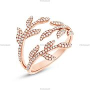 0.44 Ct Diamond Conflict-free Band Engagement Ring For Girls 14k Rose Gold