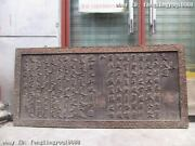 Chian Royal Old Wood Carved Emperor Edict Book Screen Plaque Inscribed Board