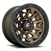 Fuel Covert D696 18x9 8x180 Et20 Matte Bronze With Black Bead Ring Qty Of 1