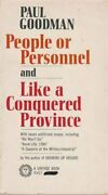 People Or Personnel By Paul Goodman Excellent Condition