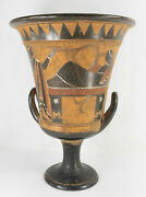 Large Decorative Neo-classical Grand Tour Greek Or Roman Krater Pottery Vase