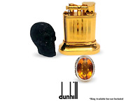 Dunhill Lift Arm Yellow Gold Plated Table Desk Vintage Lighter