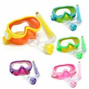 Kids Diving Snorkel Goggles Silicone Swimming Set Glasses Mask Breathing Tub
