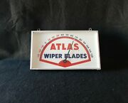 Vintage Thermometer Automobile Atlas Windshield Wiper Blades Rectangular Sign