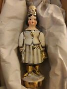 Debbee Thibault Glass Holiday Ornament- Queen Bee - White -vintage Hanging 5
