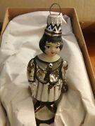 Debbee Thibault Glass Holiday Ornament Queen Bee - Silver Vintage Hanging 5
