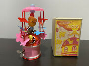 Vintage Japan Celluloid Wind-up Mechanical Hungry Chicks W/ Box Mid-century
