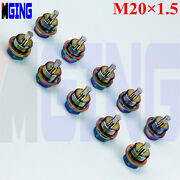 M20x1.5 Magnetic Oil Engine Pan Drain Plug Bolts Cover Crush Washer Neo Chrome
