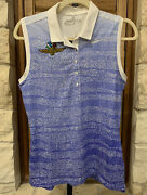 Nike Womenand039s Zebra Fade Sleeveless Golf Polo Indianapolis Motor Speedway Sm Nwt