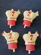 Lot Of 4 Vintage Seagram's Seagrams Bottle Toppers Stoppers New Cond. Whiskey