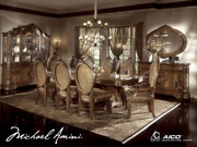 Aico By Michael Amini Excelsior 7pc Rectangular Dining Set