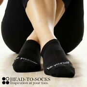 100 Pairs Non-slip Black Yoga Socks With Motivational Quote - - Be Yourselfandnbsp