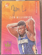 2019-20 Court Kings Fresh Paint On Card Auto - Zion Williamson Rc 14/75 Ssp