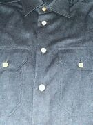 2495 Kiton Men Cashmere Shirt Hand Made In Italy M 15.5