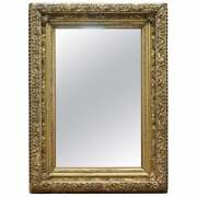 Exceptionally Carved And Heavily Detailed Period Victorian Wall Giltwood Mirror